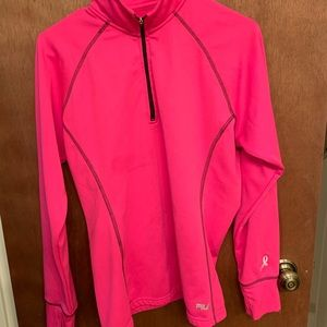 Fila pink half zip